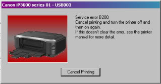 Windows displaying Error B200 message