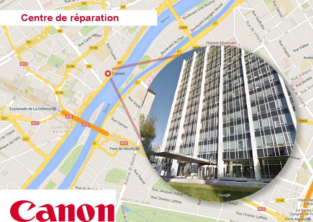centre de maintenance Canon à Courbevoie