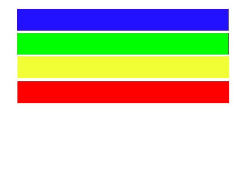 couleurs pour test impression