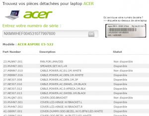recherche acer laptop